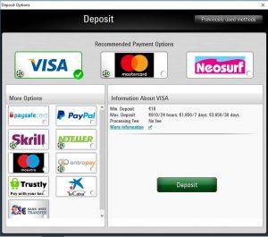 PokerStars.es Deposit Options
