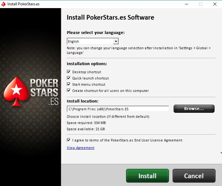 PokerStars.es Installer