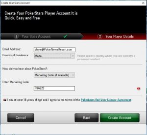 PokerStars.es Marketing Code