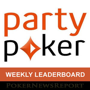 Party Poker Weekly Leaderboard
