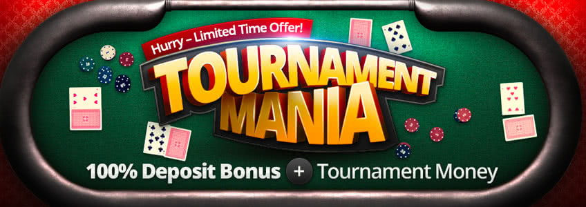 BetOnline Tournament mania Reload Bonus