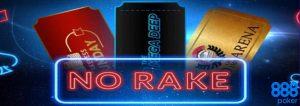 888Poker No Rake