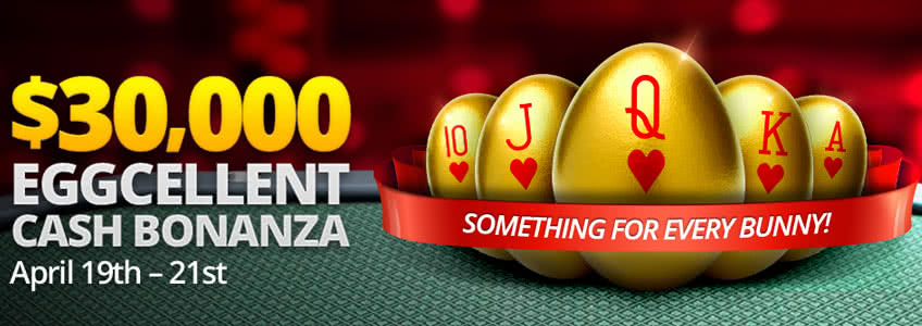 Eggcellent Easter Cash Bonanza at BetOnline Poker