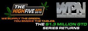 High Five Poker Tournaments April 2019