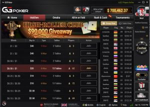 GGPoker Games Lobby - Group View