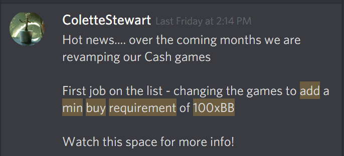 Party Poker Discord