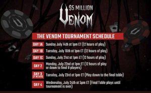 Venom Tournament Schedule