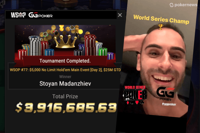 2020 WSOP Online Main Event Ends — Stoyan Madanzhiev Wins!